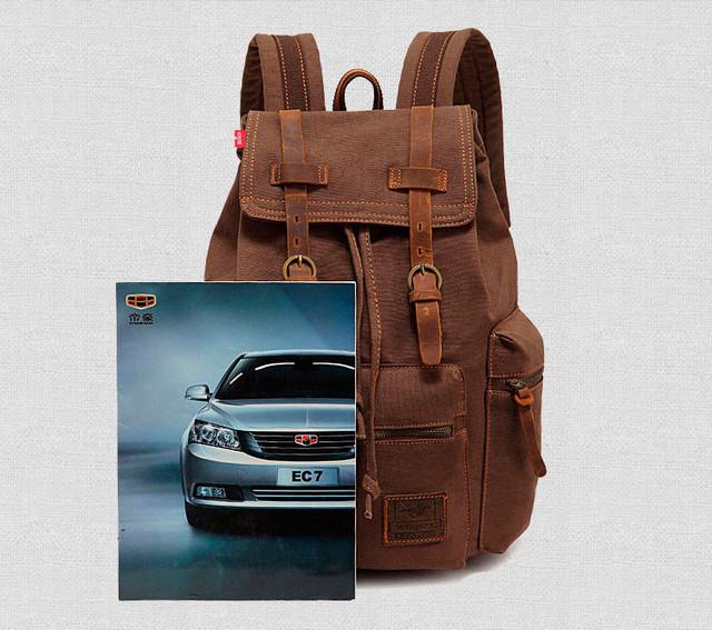 Рюкзак Augur   коричневый. Вид спереди.