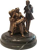 "Бронзовая статуэтка ""Шерлок Холмс и доктор Ватсон"" h-19x16"