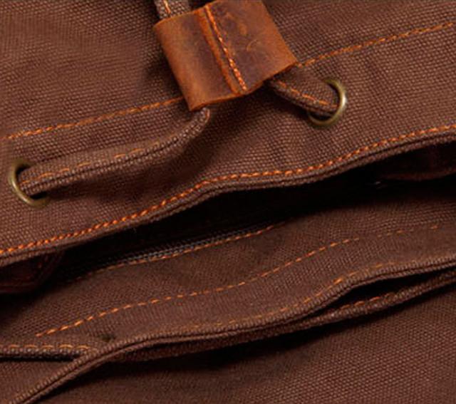 Рюкзак Augur   кожаные элементы рюкзака