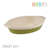 Овальная форма для выпечки/запекания granchio natura oliva green ceramica 88515