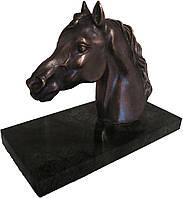 """Статуэтка """"Голова лошади"""" (бронза)"""