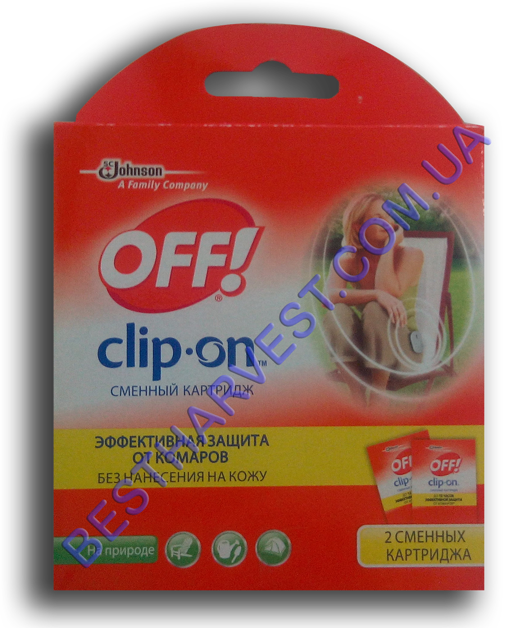 OFF! Clip-ON сменный картридж (2шт), без запаха
