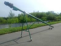"""Шнековый погрузчик зерна """"Премиум"""" ТГ160/3/3/1 бункер съемный+колеса(7м,диаметр 160мм,3 фазы,4 кВт)"""