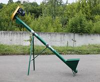 """Шнековый погрузчик зерна """"Премиум"""" ТГ100/3 с бункером (длина 3м, диаметр 100мм,3 фазы, 1,1 кВт)"""