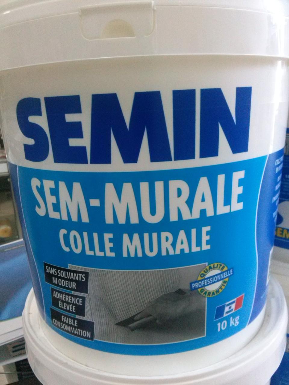 Клей для стеклообоев Semin Sem Murale(сем мурале) 10 кг, готовый - BMQ строительный маркет  в Киеве