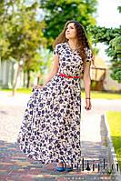Платья креп-шифон c воротничком, фото 1