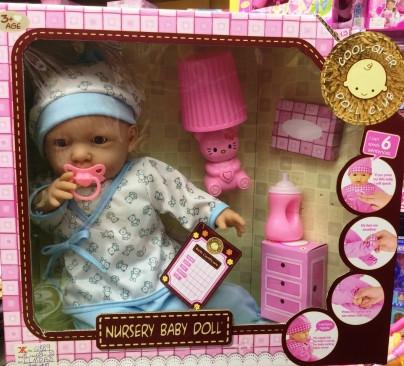 Кукла-пупс интерактивный, говорит 6 фраз, светится ночник (6620), Q 889