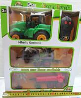 Детский игрушечный Трактор с прицепом, ABC2-E8