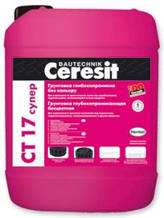Ceresit CT 17 СУПЕР грунтовка глубокого проникновения (бесцветная), 10 л