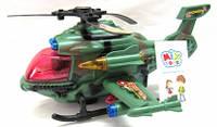 Вертолет игрушечный музыкальный синий военный, 5602B