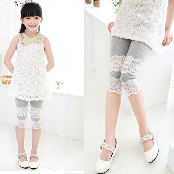 Модні літні легінси з кружевами для дівчаток   продажа 4d93ac888a143