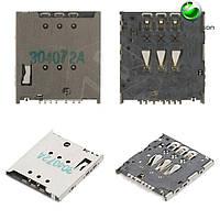 Коннектор SIM-карты для Sony Ericsson LT30p Xperia T, оригинал