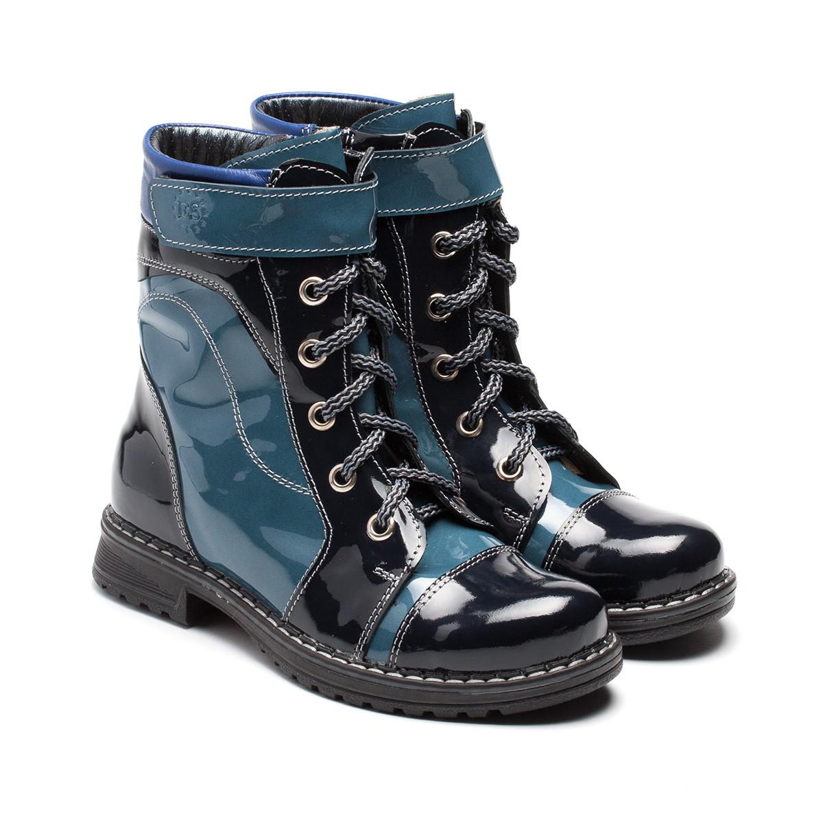 Ботинки FS Сollection, лакированные для девочки, демисезонные, размер 28- 36