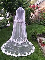 Свадебная фата вышитая 3м