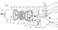 Комплект сальников в цилиндр отжима борта LC887
