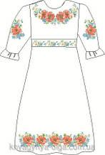ВПДЛ-2. Заготовка для вишивки бісером Дитяче плаття