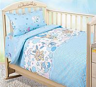 Детское постельное белье в кроватку Зайки гол., бязь ГОСТ 100%хлопок