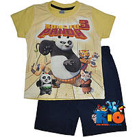 """Летний костюм с шортами """"Kung Fu Panda"""" , для мальчиков от (1-2)(2-3)(3-3.5) лет"""