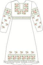 ВПДП-1. Заготівля для вишивки бісером Дитяче плаття домоткане