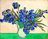 Набор-раскраска по номерам Ваза с ирисами. худ. Винсент Ван Гог