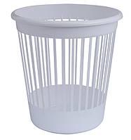 Корзина для бумаг Арника офисная 10л пластик белый (82062)