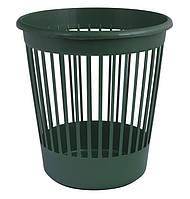 Корзина офисная для бумаг 10 л., пластик, зеленый