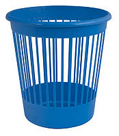 Корзина офисная для бумаг 10 л. пластик синий
