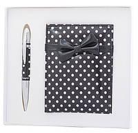 Набор подарочный ''Monro'': ручка шариковая + зеркало, черный