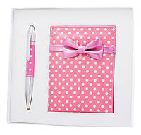Набор подарочный ''Monro'': ручка шариковая + зеркало, розовый