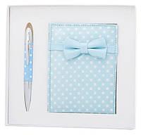 Набор подарочный ''Monro'': ручка шариковая + зеркало, синий