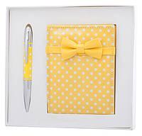 Набор подарочный ''Monro'': ручка шариковая + зеркало, желтый