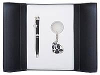 Набор подарочный ''Romance'': ручка шариковая + брелок, черный