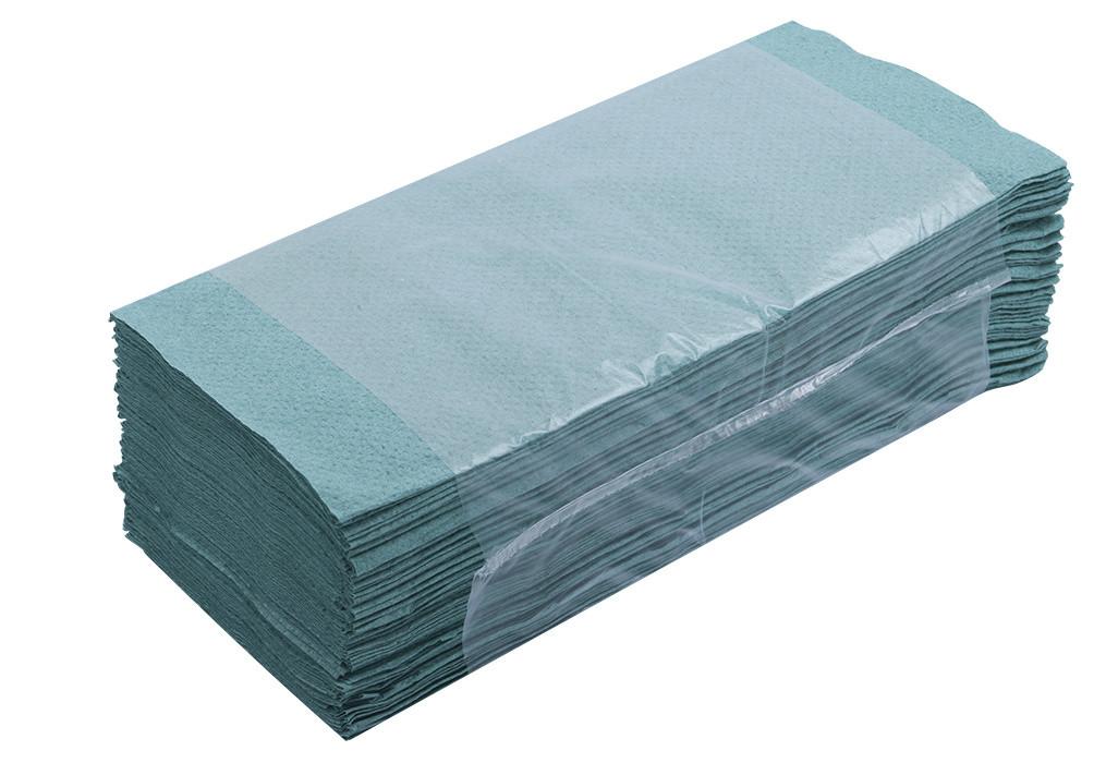 Рушники паперові BUROCLEAN макулат. Z-образні зелені 160 шт 10100102