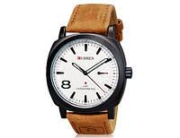 Мужские часы CURREN 8139 Black & White черно-белые