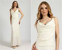 Свадебное платье с вышивкой на спине G0562А (р.44-50)