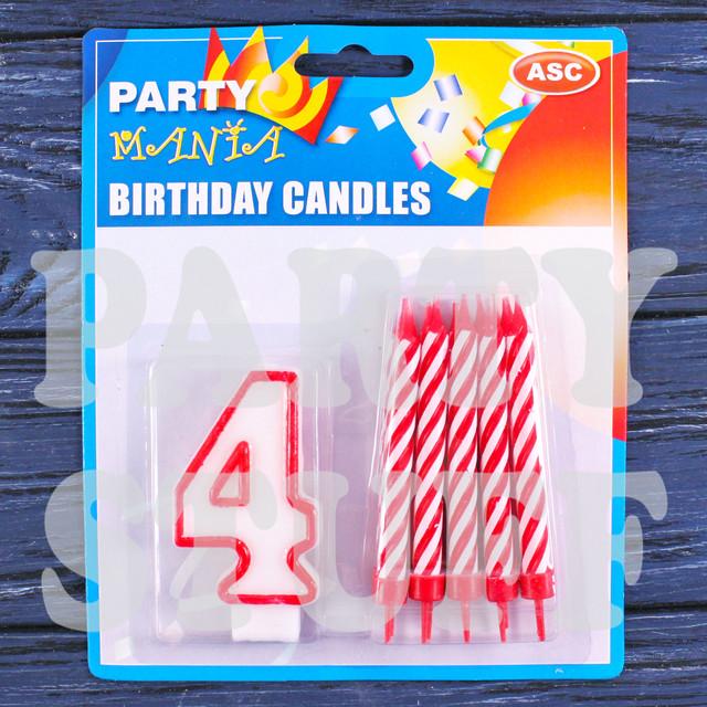 Набор свечей на праздничный торт