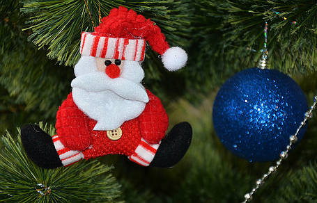 Новогоднее украшение Дед Мороз и Снеговик на ёлке (шпагат), фото 2