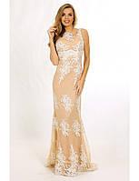 Свадебное платье из нежного гипюра с открытой спиной G0825 (р.42-48)