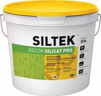 Штукатурка силикатная декоративная короед 2,0 мм, 25 кг Siltek Decor Silicat Pro, база DA