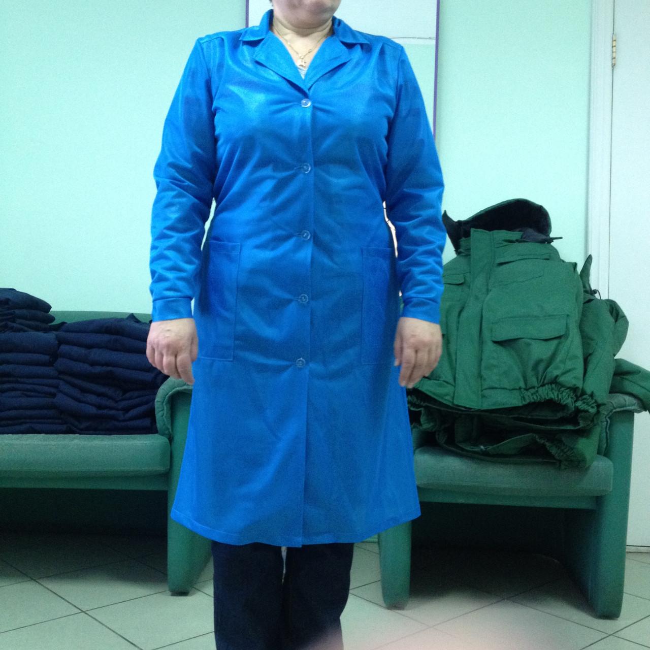 Халат нейлоновый, габардиновый, для продавцов, работников складов - МС Групп, Спецодежда в Львове
