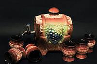 Набор для вина Виноград (бочка со стопками)
