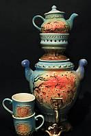 Чайный набор с самоваром Сакура,керамика