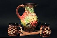 Набор для подачи компота (кувшин-компотник с чашками ),керамика
