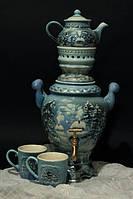 Чайный набор с самоваром Зима,керамика
