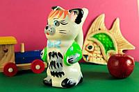 Поилка керамическая  Кот большой, белый