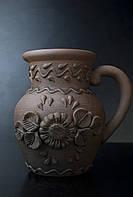 Крынка Подсолнух, красная глина
