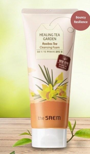 Пенка для умывания с экстрактом чая ройбуш The Saem Healing Tea Garden Cleansing Foam Rooibos Tea