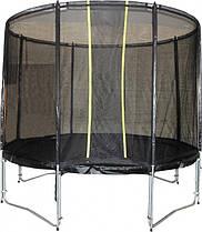 Батут спортивный KIDIGO VIP Black 426 см с защитной сеткой