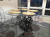 Круглый стол со стеклянной столешницей. Эксклюзивная работа
