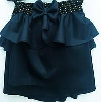 Стильная школьная юбка для девочки Бантик